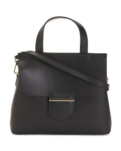 Made In Italy Leather Medium Satchel