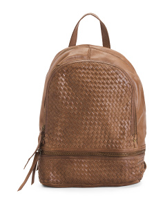 cca1cb7420 Made In Italy Woven Leather Backpack ...
