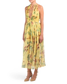 Juniors High Neck Maxi Dress