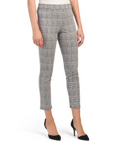 Petite Houndstooth Plaid Knit Pants