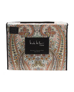 Evelyn Paisley Cotton Sateen Duvet Set