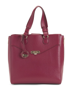 Made In Italy Leather Pebbled Satchel