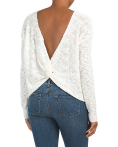 Caddie Twist Back Sweater