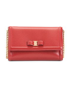 Made In Italy Leather Mini Flap Bag