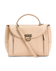 Made In Italy Sofia Leather Handbag