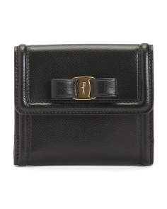 Made In Italy Leather Wallet With Bow