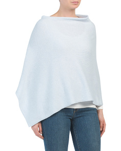 Made In Italy Fine Triangle Poncho