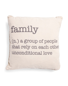 20x20 Family Definition Pillow