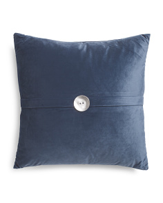 20x20 Foil Button Pillow