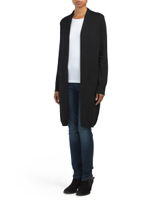 Long Open Duster With Pockets