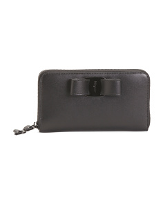 Made In Italy Leather Zip Around Wallet