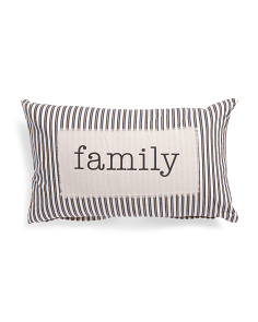 16x26 Family Ticking Stripe Pillow