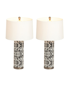 Set Of 2 27.5in Ceramic Table Lamps