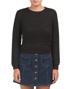 Lurex Fish Net Sweater