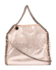 Made In Italy Falabella Shiny Dotted Mini Tote