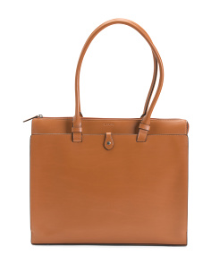 Leather Audrey Jessica Work Satchel