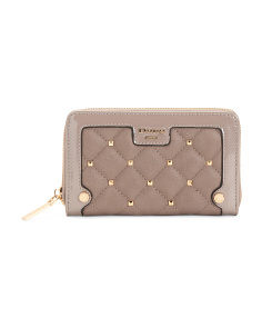 Studded Zip Around Wallet