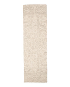 Made In India Wool 2x8 Tufted Wool Runner