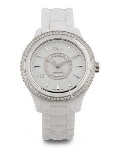 Women's Swiss Made Diamond Bezel Ceramic Viii Bracelet Watch