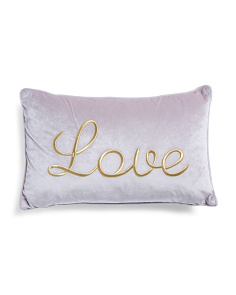 14x22 Embroidered Love Pillow