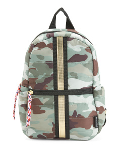Nylon Backpack With Zippered Front