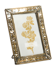 4x6 Gold Metal Photo Frame