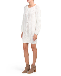 Juniors Chunky Cable Mini Dress