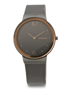 Women's Freja Two Tone Mesh Strap Watch
