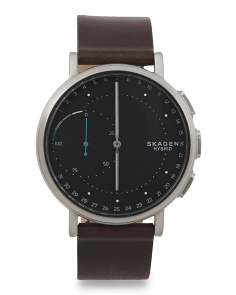 Connected Hybrid Smartwatch With Leather Band