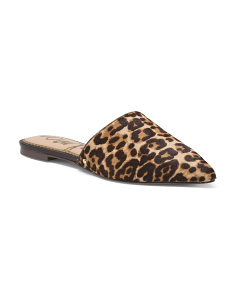 Leopard Haircalf Mules