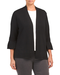 Plus Bell Sleeve Cardigan