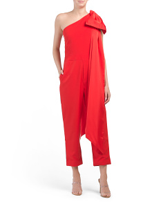 Dramatic Bow Shoulder Jumpsuit