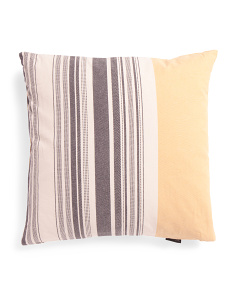 22x22 Striped Slub Pillow