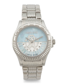 Women's Swiss Made Sophisticated Logo Bracelet Watch