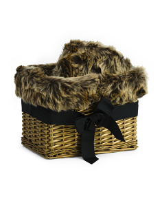 Luxe Faux Fur Throw In Gift Basket