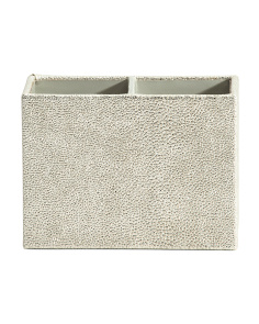 Faux Shagreen 2 Section Pencil Cup