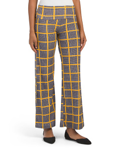 Juniors Plaid Wide Leg Palazzo Pants