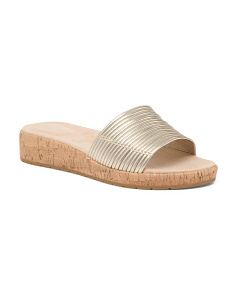 d401802a2d5 Wide Leather Slide Sandals ...