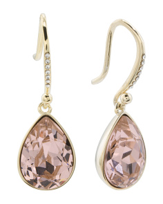 Gold Plated Sterling Silver Swarovski Crystal Drop Earrings
