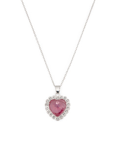 Sterling Silver Swarovski Crystal Heart Necklace