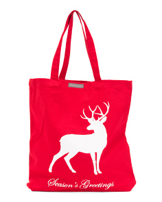 Stag Canvas Tote