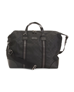 Made In Italy Leather Trim Travel Bag