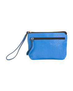 Made In Italy Leather Python Pouch