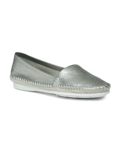 Made In Brazil Slip-on Leather Flats