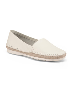 Made In Brazil Slip On Leather Flats