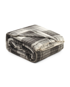 Luxe Wool Plaid Blanket