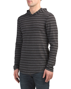Striped Thermal Hoodie