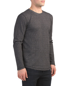 Thermal Long Sleeve Crew Neck Top