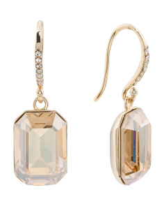 Sterling Silver Swarovski Crystal Drop Earrings