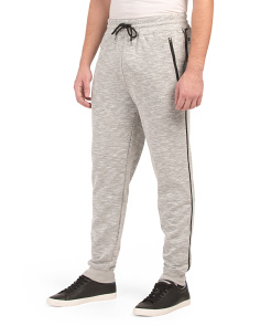 Speckled Streaking Piped Joggers